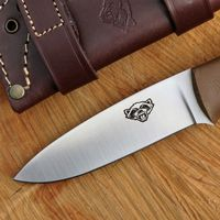 TBS Wolverine Field Knife - Brown G10 - Standard Sheath